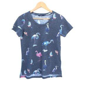 MAX JEANS Flamingo Print T-Shirt Size S